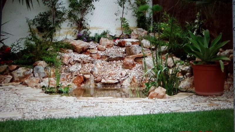 Construccion de cascadas y fuentes podas y jardines mallorca for Construccion de fuentes y cascadas